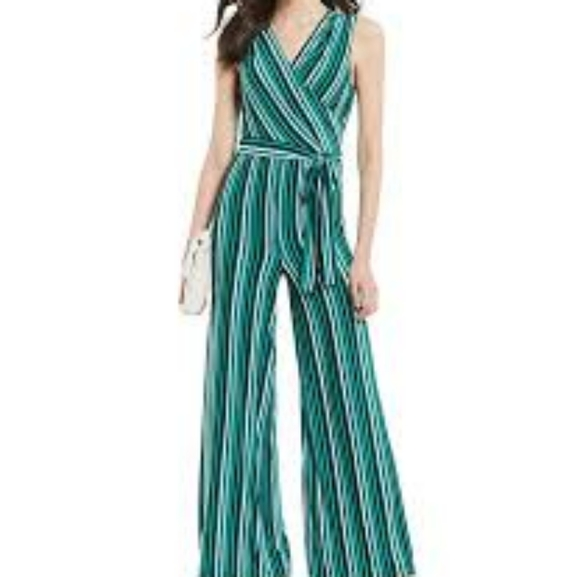 Anthropologie Pants - Anthropologie- Donna Morgan Sexy Striped Jumpsuit